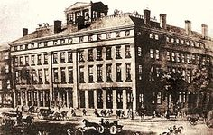 The Quincy House, hotel in Quincy Illinois, 1840s