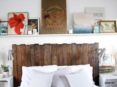 27 DIY Pallet Headboard Ideas. Getting ready to build this for our bed! So excited, yay free pallets