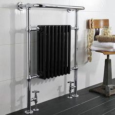 Sèche-serviettes radiateur noir laqué Marquis - 1066 watts - Image 1