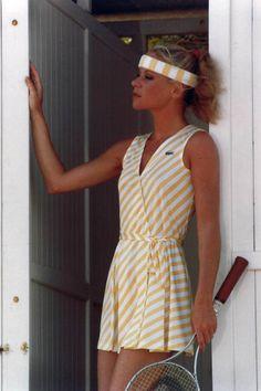 10 Vintage Pics that Prove Tennis is the Chicest Sport Ever - Lacoste Vintage Tennis Photos #padel