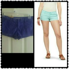Low waisted shorts Purple shorts never worn with tags. 98% cotton and 2% spandex. 2.5 inseam. Size chart in last photo. Make an offer loves. Mossimo Supply Co Shorts