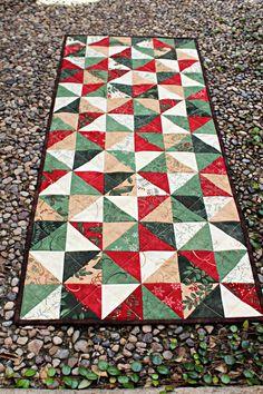 Table Runner Quilt in Christmas Spirit by FrivolousNecessity