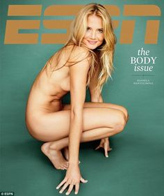 Daring to bare: Slovakian tennis star Daniela Hantuchova is among 27-world-class athletes to have posed nude for the ESPN Body Issue