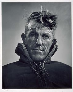 Sir Edmund Hillary - New Zealand mountaineer, explorer and philanthropist. The man to conquer Mt. Everest - by Yousuf Karsh Yousuf Karsh, Monte Everest, People Of Interest, Rock Climbing, Mountain Climbing, Top Of The World, Special People, Interesting Faces, Mountaineering