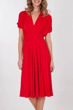 Martini clothing Woman Cap Slv Middi Dress - Womens Knee Length Dresses - Birdsnest Online