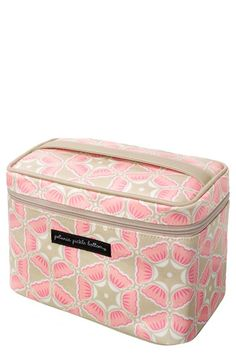 Love this for expectant Mommas! Perfect for your toiletries at the hospital. Petunia Pickle Bottom Travel Train Case available at #Nordstrom