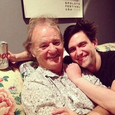 This photo is monumental Bill Murray and Conor Oberst