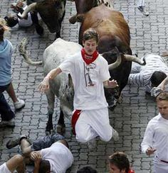 Pamplona. #España #Spain. San Fermin. Running of the bulls ~ One of my American friends did this & lived to tell me about it!
