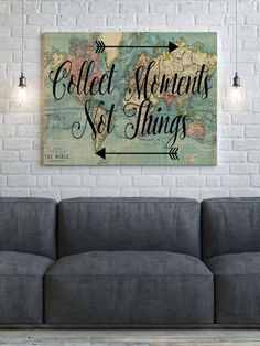 World Map Canvas Collect Moments Not Things World by PartyInked