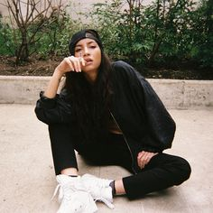Instagram media indiadominiqueross - Our favorite muse, Emilie from Tahiti 2013 Paris, by @_christinapaik ~ styled by me