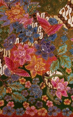 Djawa Baroe (New Java) Batik. Colorfull and lovely so much. Handrawn processing for illustration and coloring, took more than 4 months to make it. Indonesian Batik. Love all the pattern n color. This is one of my fav batik design ❤