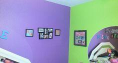 Lime green n purple room