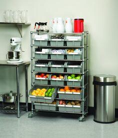 Shelf Storage System Bin Rack 7 Shelf Organizer Rolling Rack Garage Kitchen for sale online