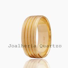 Aliança de casamento Valdilene em ouro 18 klts e 16 gramas o par.