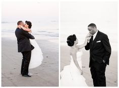 Santa Barbara Beach Unique Wedding - Beautiful Princess Bride and Groom Kiss - Boutique Destination Love & Wedding Photography by Paul & Jewel Studios
