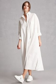 We both want to know how to jump on this shirtdress trend everyone seems to be raving about. So, I decided to showcase these styles in white cos you can pretty much DIY them in other colors and prints from these. color Max Mara Pre-Fall 2019 Fashion Show Modest Dresses, Casual Dresses, Casual Outfits, Lace Dresses, Club Dresses, Casual Shirts, Look Fashion, Fashion Show, Fashion Outfits