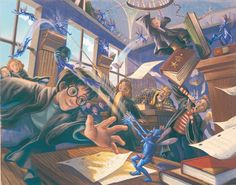 Illustrator of the U.S. Harry Potter editions Mary GrandPré depicts iconic moments from the books in a seldom-seen series of beautiful prints.