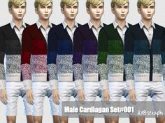Cardiagan Set #001  Found in TSR Category 'Sims 4 Male Everyday'