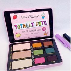 "Too Faced Cosmetics • Fall 2016 • TOTALLY CUTE Eyeshadow Palette (with limited edition ""kawaii"" stickers to decorate your palette) • $36 • Available JUNE 15th @ TooFaced.com!!"