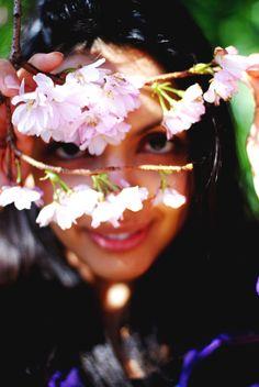 Sakina Ballard #actress #colour #portrait #blossom #eyes