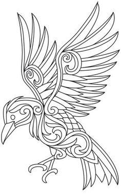 Baroque Natura - Raven design (UTH9698) from UrbanThreads.com