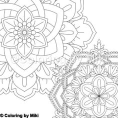 Flower Mandala Coloring Page 253