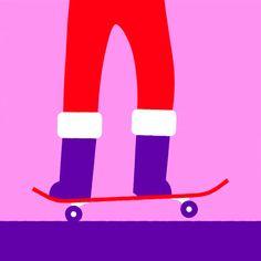Juxtapoz Magazine - Happy Holidays, I Got You a GIF!! | Illustration