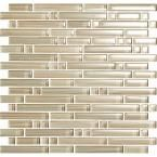 Jeffrey Court, Brick Boulevard 12 in. x 11-1/4 in. Stone and Stainless Mosaic Wall Tile, 99614 at The Home Depot - Mobile