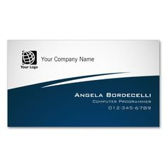 425 best computer business card templates images on pinterest computer programmer business card simple zig zag reheart Images
