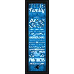 NFL Jersey's Men's Carolina Panthers Mario Addison Pro Line Big & Tall Team Color Jersey