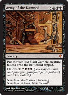 Commander 2013 Army of the Damned black mythic rare sorcery zombie flashback mtg Magic the Gathering card