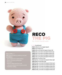 Best 12 Amigurumi Crochet Pattern Hamlet the Pig by littlemuggles on Etsy – SkillOfKing. Crochet Bear Patterns, Crochet Pig, Crochet Patterns Amigurumi, Amigurumi Doll, Crochet For Kids, Crochet Animals, Crochet Dolls, Crochet Bookmarks, Cute Toys