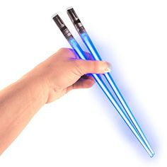Chop Sabers Light Up LightSaber Chopsticks (1 Pair, Blue)