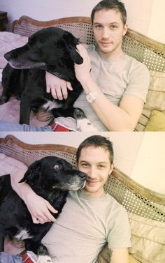 Tom Hardy and Max. So cute!!