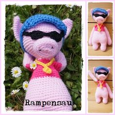 Frau Tschi-Tschi: Rampensau häkeln Freebie Amigurumi - crochet pattern free - Häkelanleitung kostenlos - Schwein pig