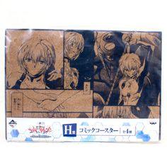 Evangelion Comic Cork Coaster Set Rei Ayanami Ver. Banpresto JAPAN ANIME MANGA