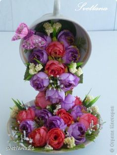 Master-class modelovanie konštrukcia kvetinový šálka výrobný proces 18 fotografií