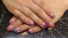 multi-color marble... Color Marble, Nail Art, Nails, Painting, Beauty, Beleza, Ongles, Finger Nails, Paintings