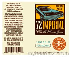mybeerbuzz.com - Bringing Good Beers & Good People Together...: Breckenridge Brewery - Barrel-Aged 72 Imperial