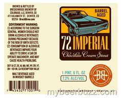 mybeerbuzz.com - Bringing Good Beers & Good People Together...: Breckenridge Brewery - Barrel-Aged 72 Imperial