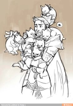 """hamburgerjack: """" syberfag: """" King Alistair visits Ferelden army's newest recruits to boost moral """" """"What do you mean? """"I mean Sir, that this entire litter of Mabari pups. Dragon Age Games, Dragon Age 2, Dragon Age Origins, Dragon Age Inquisition, Dragon Age Alistair, Anders Dragon Age, Grey Warden, Dragon Age Series, Elder Scrolls"""