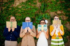 Bridal party + books