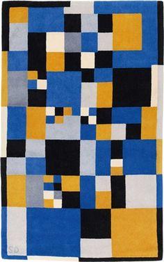 peinture russe abstraite : Sonia Delaunay, 1920-29, carrés, bleu-jaune