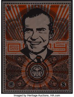 Shepard Fairey (b. Lenin Money, MAO Money, and Nixon Money (three works), 2002 Silkscreen on metal 24 x - Available at 2017 June 11 The Future is Now:. Shepard Fairey Obey, The Future Is Now, Three Words, Art Decor, Auction, Sculpture, Money, Metal, Prints