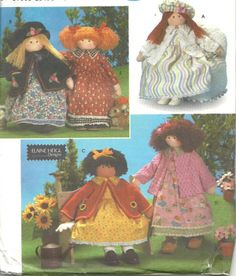 "Simplicity Crafts 8835 Elaine Heigl 26"" Doll & Clothes Sewing Pattern"
