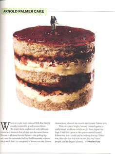 arnold palmer cake recipe from momofuku milk bar/lucky peach issue 2