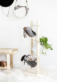 DIY Basket Tower @th
