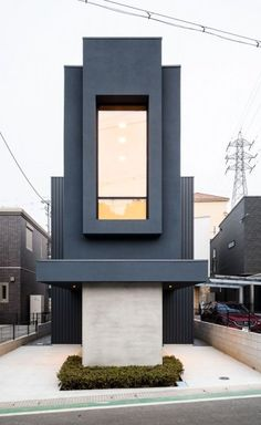 A Slender House in Japan Defies its Narrow Proportions with Minimalist Finesse Century Hotel, Mid Century, Minimalist Home, Minimalist Design, Concrete Porch, Concrete Bath, Australian Holidays, Walnut Timber, Tiles Texture