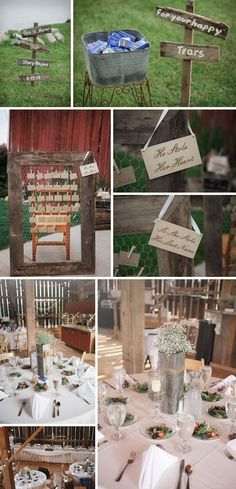 rustic wedding decor by kdharris15