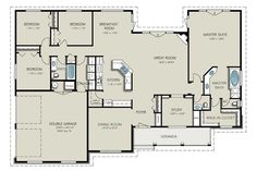 Country Style House Plan - 4 Beds 3.00 Baths 2563 Sq/Ft Plan #427-8 Floor Plan - Main Floor Plan - Houseplans.com